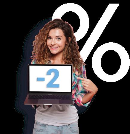 Онлайн-кредит – ставка на 2% ниже,<br> чем в офисе!